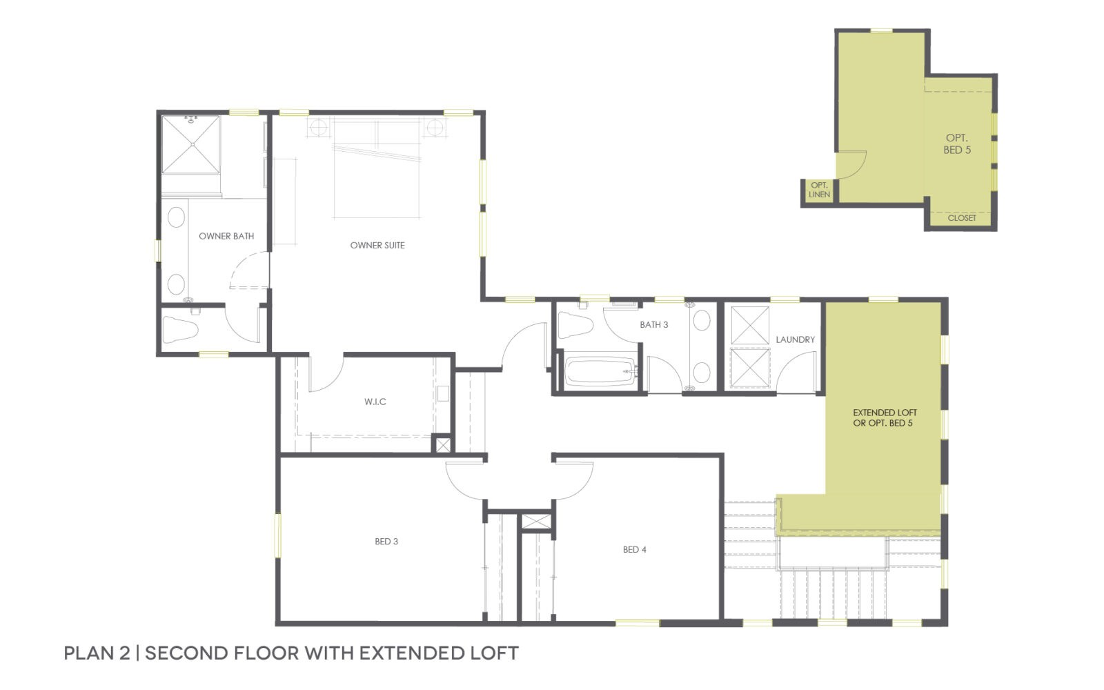 Plan 2B Second Floor